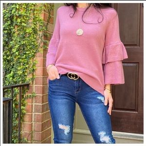 🌈SALE🌈Layered Sleeves Knit Sweater